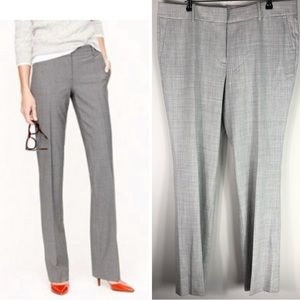 J. Crew Campbell Trouser Super 120s Wool Gray Pant